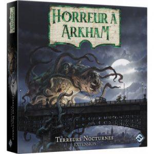 Avec Terreurs Nocturnes, vous pourrez doubler le nombre de cartes Rencontre, ajouter des investigateurs et des scénarios inédits à vos parties de Horreur à Arkham 3e Edition.
