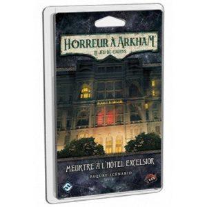 Les investigateurs doivent résoudre un Meurtre à l'Hôtel Excelsior dans ce scénario pour Horreur à Arkham : le Jeu de Cartes