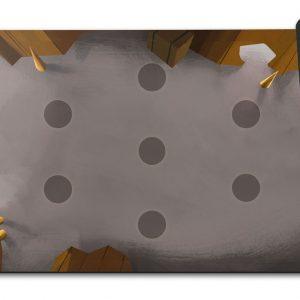 A la conquéte des catacombes – Le tapis de jeux